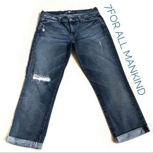 7 For All Mankind Slim Crop and Roll Jeans